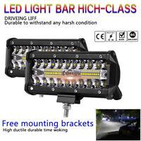 120W LED Barra de luz de trabajo Flood Spot Beam Offroad SUV Faros antiniebla
