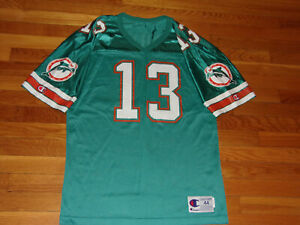 VINTAGE CHAMPION MIAMI DOLPHINS DAN MARINO FOOTBALL JERSEY MENS MEDIUM 44 EXC.