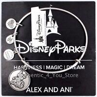 NEW Disney Parks ALEX AND ANI 2016 Sorcerer Mickey Mouse SILVER Bangle Bracelet