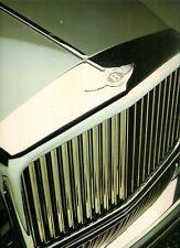 Bentley Eight Mulsanne Turbo R Continental 1986-87 UK Market Foldout Brochure