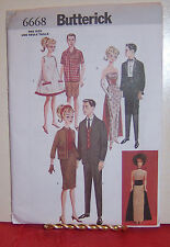 """Reduced!  BUTTERICK 6668 OOP RETRO VINTAGE 11½"""" Fashion Doll Pattern"""