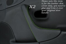 GREEN STITCH 2X DOOR HANDLE TRIM LEATHER COVER FITS MAZDA MX5 MK2 MIATA 98-05