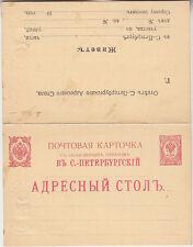 Russia, Russland privat unused Postal stationery, 2 sides