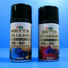Betta Cuisine Food 25g+ Betta Guard 60ml - Almond Leaf Aquarium Tropical Fish