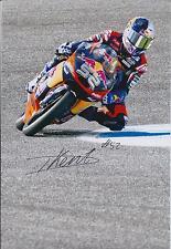 Danny KENT SIGNED Red Bull MOTO2 MOTOGP AUTOGRAPH 12x8 Photo AFTAL COA In Person