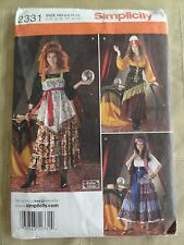 Simplicity 2331 Gypsy Costume 3 Looks Pattern 6-12 New