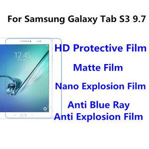 3pcs For Samsung Galaxy Tab S3 9.7 Matte/Nano Explosion Screen Protector