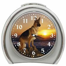 Majestic German Shepherd Alarm Clock Night Light Travel Table Desk