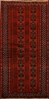 Tribal Traditional Geometric Balouch Oriental Area Rug Hand-Knotted 3'x6' Carpet