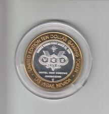 VEGAS CLUB .999 FINE SILVER LIMITED EDITION GAMING TOKEN A2
