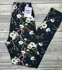 Extra PLUS Cherry Blossom Leggings Floral Printed Curvy sizes 16-24
