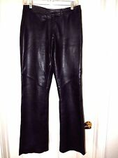 Margaret Godfrey Soft Black Leather Pants-size 6  Beautiful craftsmanship!