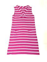 Kate Spade Women's Pink Striped Sleeveless Beach Dress Size Size Medium