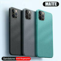 Case For iPhone 12 Pro Max 11 XS XR X 8 7 Shockproof Soft Matte Sandstone Cover