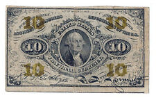 Act of March 3rd 1863 U.S. Ten Cents Fractional Currency... Avg. Circualated!!!!