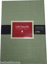 Sage Green Vinyl Tablecloth - Café Deauville Vinyl Tablecloth Green Flannel Back