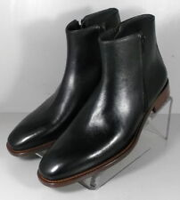 241835 MSiBT60 Men's Shoes 8.5 M Black Leather  Made in Italy Johnston Murphy