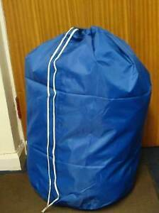 Blue Extra Large Heavy Duty Laundry Bag Sack with Drawstring Commercial Style