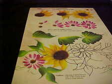 Donna Dewberry One Stroke Sunflower RTG Reusable Teaching Guide NEW