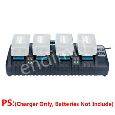4-IN-1 Makita DC18SF 14.4V/18V Li-Ion Battery Replace Quick Charger (4 PORT*3Ah)