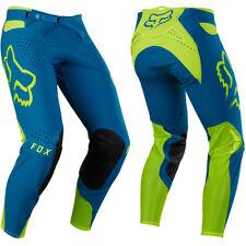 Fox Racing Flexair Motocross MX Pantaloni - LED Falena Verde Blu