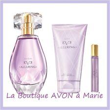 LOT Eau de parfum EVE ALLURING + Lait + vapo de sac de chez AVON neuf
