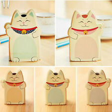 Cute 5 Sets Cat Shape Memo Pad Paper Stand Portable Office Home Sticky Notes