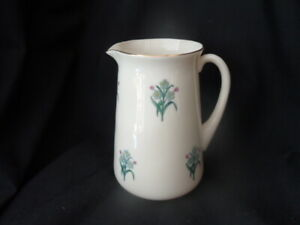 W.H.GOSS LARGE TAPER JUG WITH FORGET ME NOTS