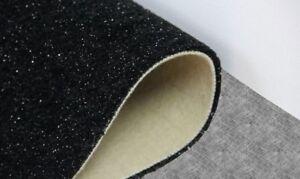 Teppichboden Flauschvelour mit Glitzer Shaggy in schwarz 4 m x 1,50 m Rest T184
