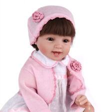 22'' Vinyl Silicone Reborn Baby Doll Newborn Handmade Birthday Gifts Smile Xmas