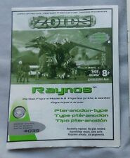 ZOIDS #039 RAYNOS ACTION FIGURE MODEL KIT INSTRUCTION BOOKLET