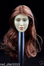 HAOYUTOYS 1/6 Lin Chi-ling Wine red Hair Head Carving F 12'' PH Figure Body