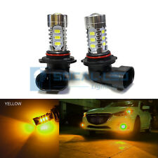 2x Yellow H10 9145 LED Bulbs 15W SMD 5730 High Bright Fog Light DRL + Projector