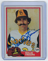 1981 PADRES Rollie Fingers signed card Topps #229 AUTO Autograph Cy Young Brewer
