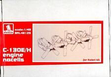 Brengun Models 1/48 C-130E/H ENGINE NACELLES WITH PROPELLERS Resin Set