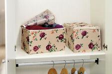 2 Stück Aufbewahrungstasche Faltbox Kleidung Textilien Schrank Organizer