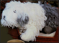 "Vintage Knitting Pattern • Old English Sheepdog • Cuddly Toy • DK • 26"" Long"