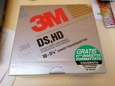 """FLOPPY DISK 3M 5,25"""" DS HD BOX 11 pezzi nuovo sigillato"""
