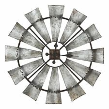 """Rustic Windmill Clock, 30"""" Tall, by Special T Imports"""