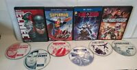 Batman/Superman Lot de 4 films d'animation DC Comics PAL Zone 2 - Très bon état
