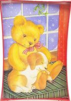 Christmas Holiday Cards Teddy Bear Puppy Pals 18ct New