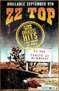 ZZ TOP Live: Greatest Hits From Around The World Ltd Ed New RARE Tour Poster!