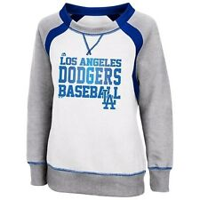 MLB Majestic Los Angeles Dodgers Women's White Lovely Leaguer Sweatshirt