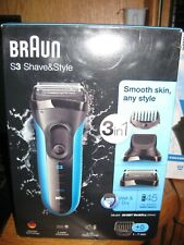 New Braun S3 Shave & Style 3-in-1 Wet & Dry Rechargeable Electric Shaver 3010BT