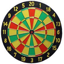 Dart Spiel Dartscheibe Dartboard Holz 2 Seiten bespielbar mit 6 Wurfpfeile Darts