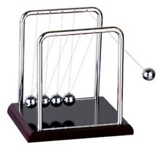 Newtons Cradle Steel Balance Balls Physics Science Pendulum Desk Accessory UK