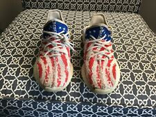 Youth Designer Inspired American Flag Sneakers Shoes Size 7