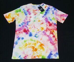 Under Armour Tie Dye Shirt UA HeatGear Pride Graphic Loose Fit Rare 1355641-100