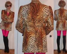 RARE ESCADA TIGER ANIMAL ABSTRACT ART DECO SILK JACKET AVANT-GARDE DESIGN M 38