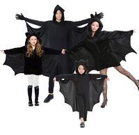 Erwachsene/Kinder Vampir Fledermaus Zip Hood Overall Halloween Kostüm Verkleiden
